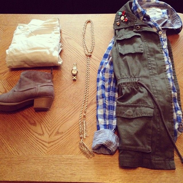 Military Vest | Plaid | Ankle Boots