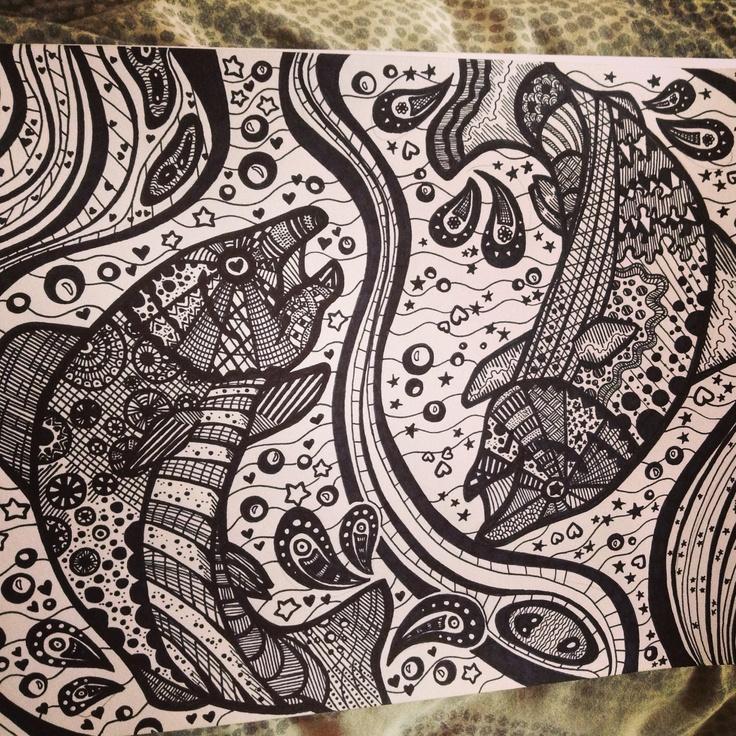 salmon mandala coloring pages - photo#4