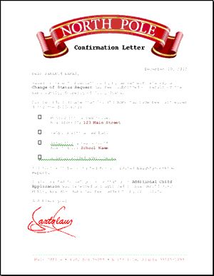 writing a letter to santa and getting a reply