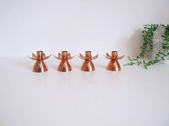 Ystad Metall Gunnar Ander set of four Copper por tiendanordica