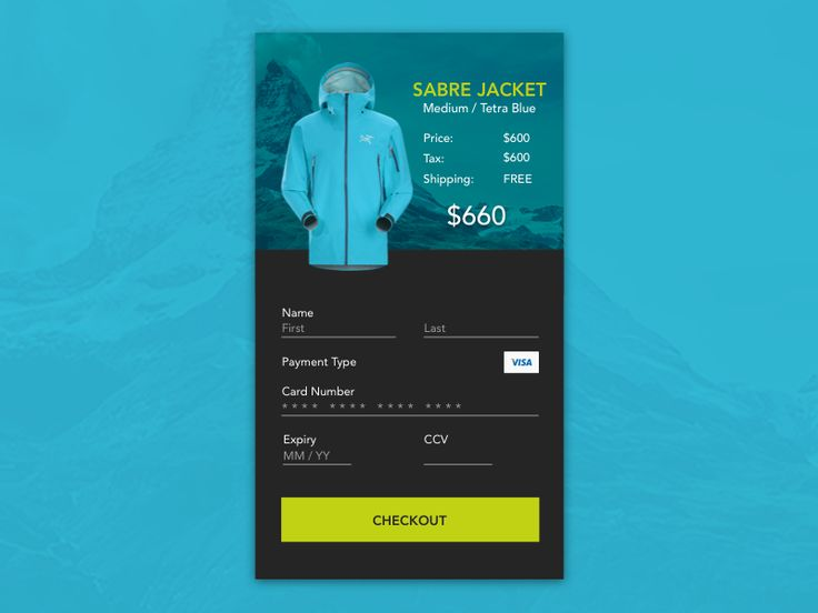 Daily UI #002 - Checkout Screen