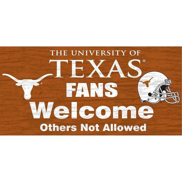 Texas Longhorns Welcome Sign Wall Art, Multicolor