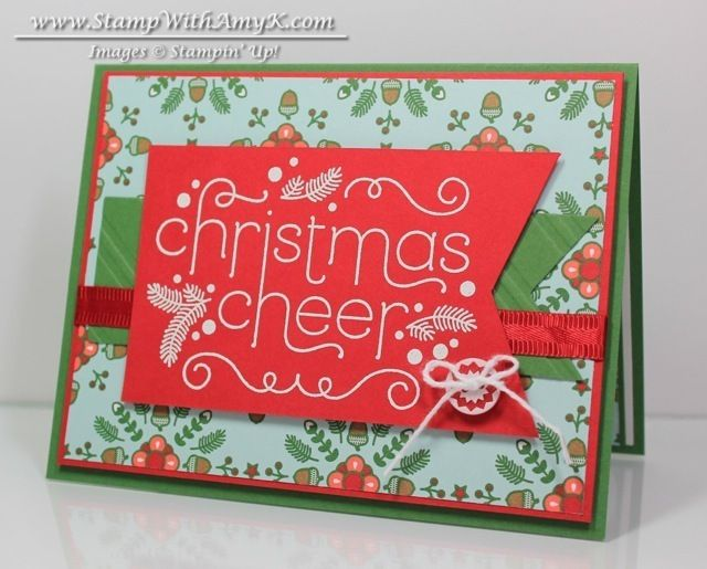 Cheerful Christmas - Stampin' Up - Stamp With Amy K