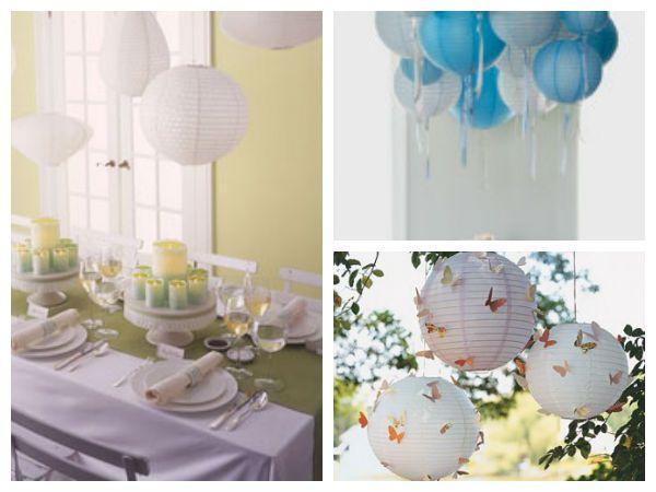 Lanterne di forme diverse (foto 1), colorate (foto 2) e personalizzate (foto 3). Foto: Martha Stewart Weddings