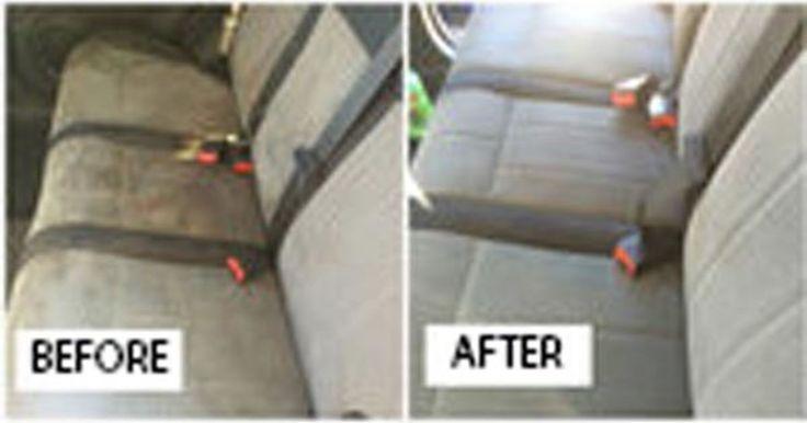 Kotitekoinen sekoitus auton sisustuksen puhdistamiseen