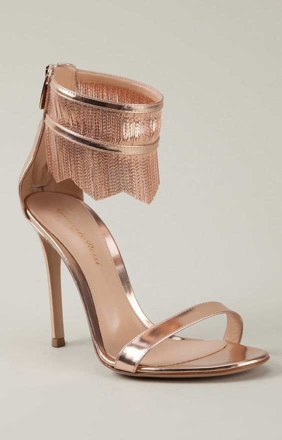 "Gianvito Rossi. I love that it's a rose gold any other metal color would make it a ""no""."