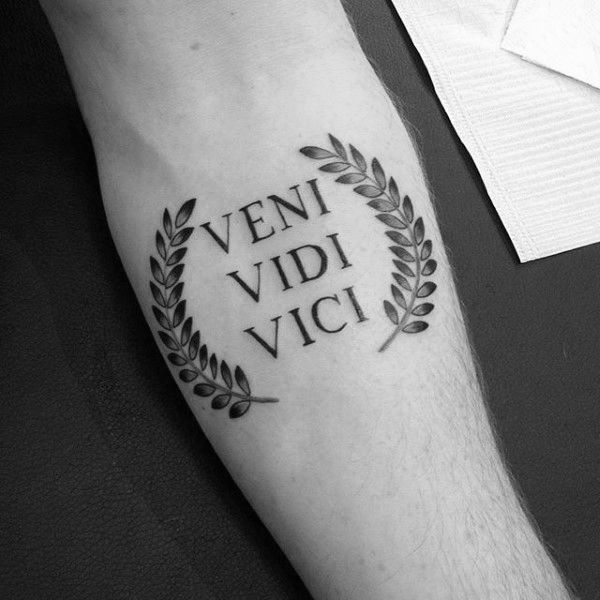 60 Veni Vidi Vici Tattoo Designs For Men - Julius Caesar Ideas                                                                                                                                                                                 More