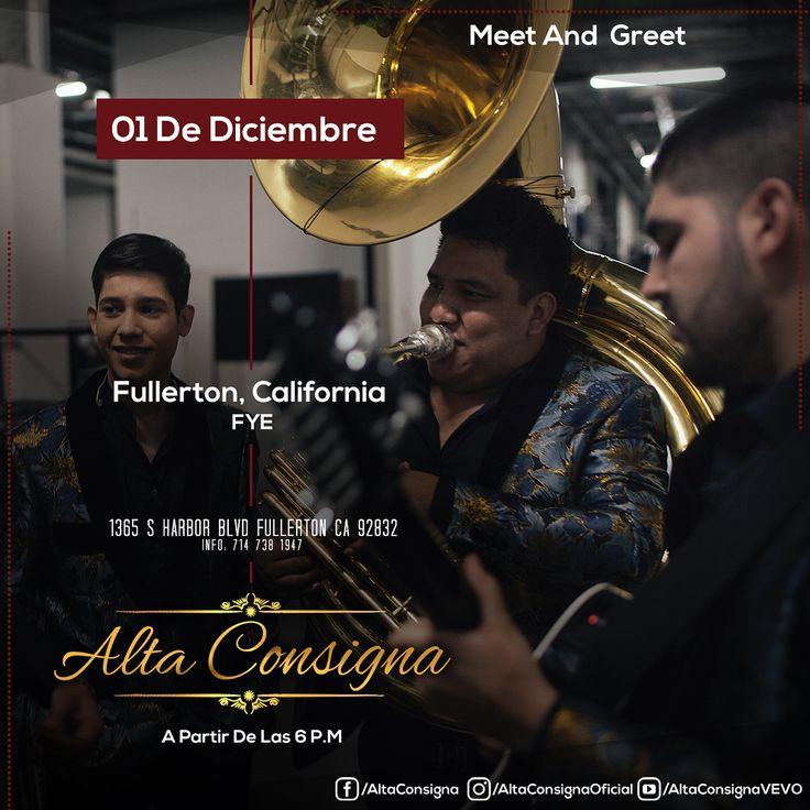 Meet and Greet con Alta Consigna  #FULLERTON #NATIONALCITY #CLOVIS #MESQUITE #CHICAGO