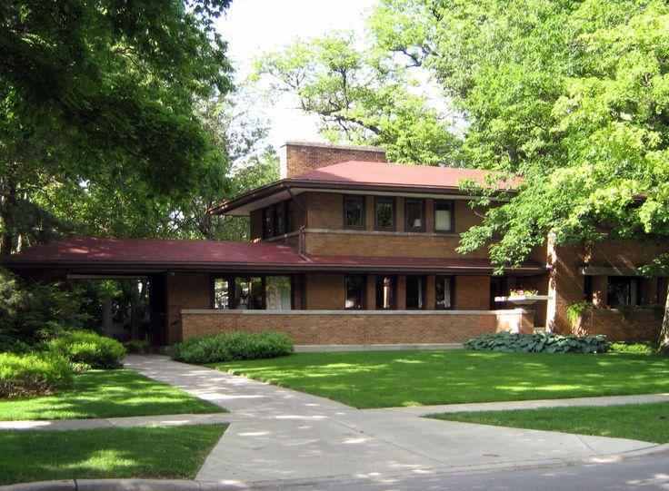 Frank Lloyd Wright Prairie Houses 61 best frank lloyd wright prairie house images on pinterest