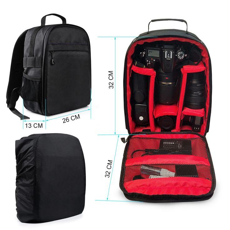 Digital Camera Waterproof Backpack Bag Case For Canon EOS 1100D 760D 750D 700D 600D 1300D 1200D 650D 550D 60D 70D SX50 SX60 #Affiliate