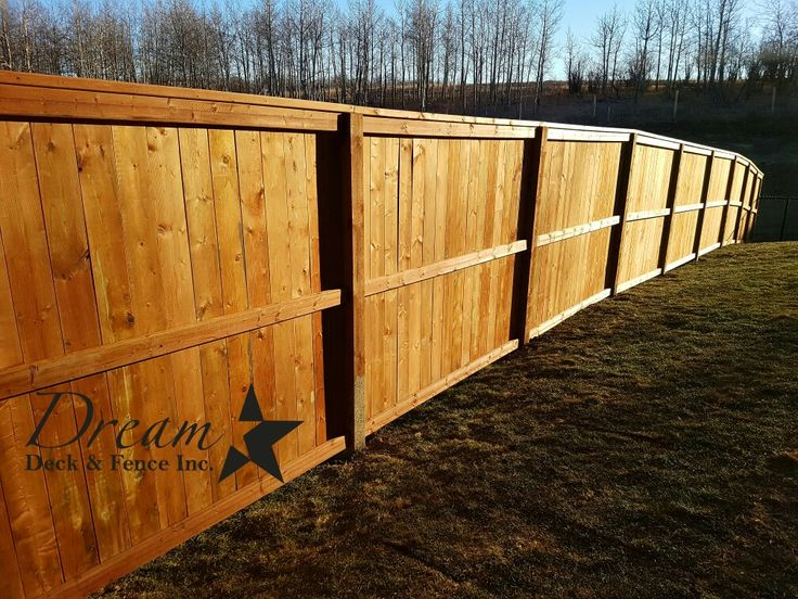Brown Pressure Treated Fortress 6ft with 4x6 posts  www.dreamdeckandfence.ca
