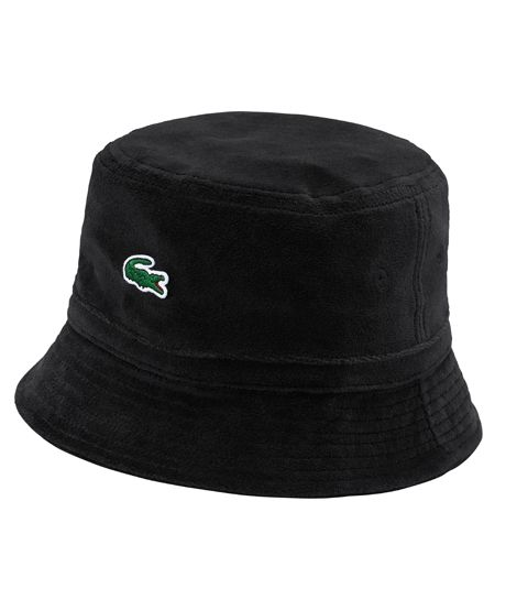 ac0432aa5a8 Lacoste x Supreme 2018  Velour bucket hat (also available in orange