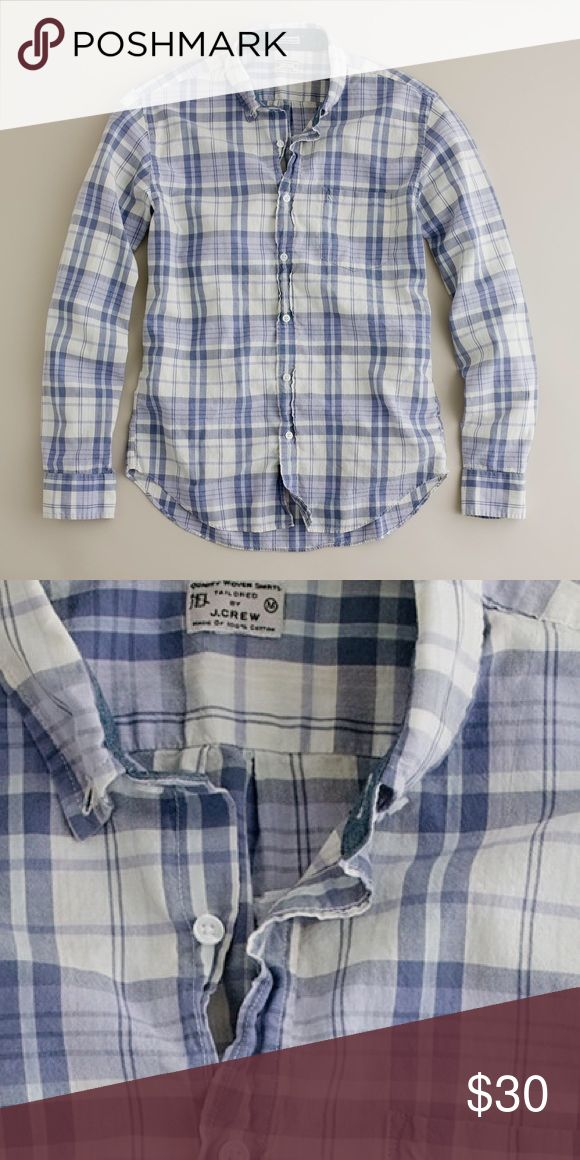"J Crew Madras Shirt Men's Button-down shirt in purple madras. In excellent condition with no issues. 17.5"" underarm to underarm and 27"" L J. Crew Shirts Casual Button Down Shirts"