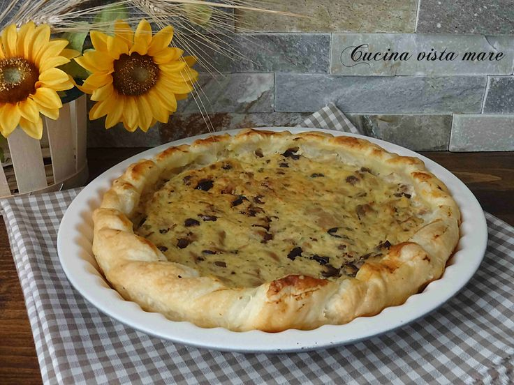 Torta salata tonno e ricotta Cucina vista mare