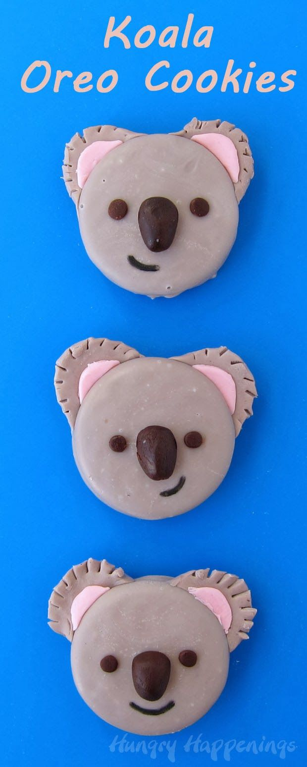 "Koala Oreo Cookies - Say, ""I Love You Beary Much"" this Valentine's Day with these cute cookies. Tutorial at HungryHappenings.com"