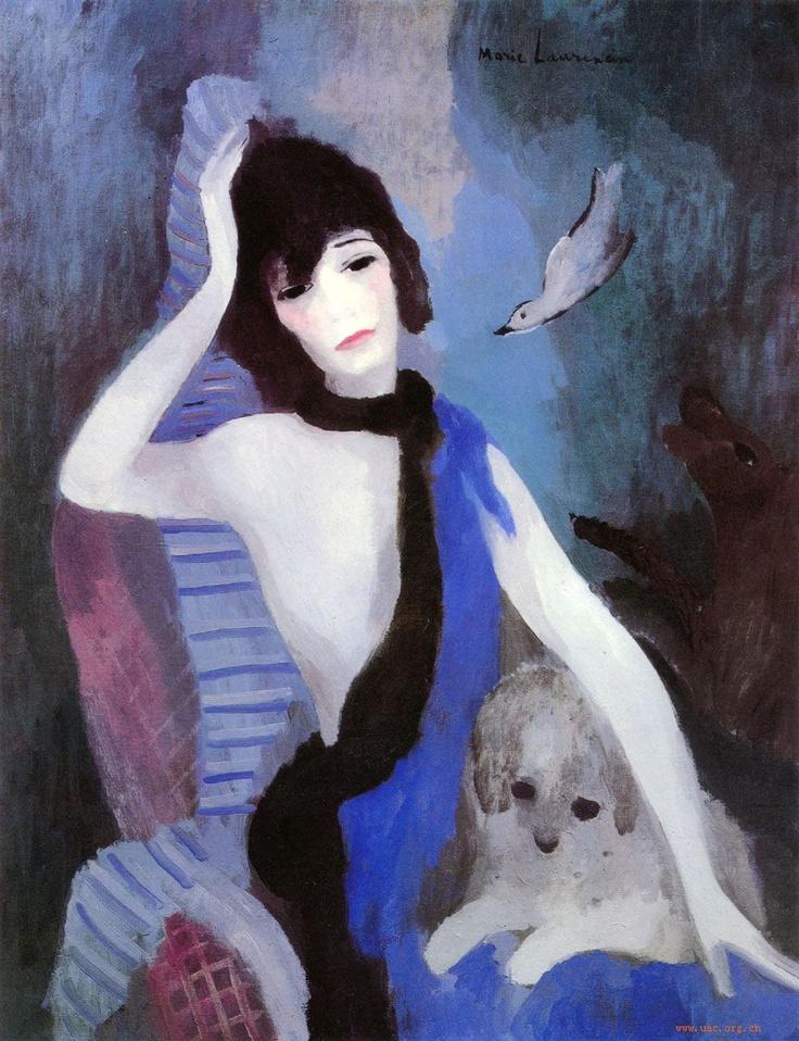 'Portrait of Mademoiselle Chanel' - 1923 - by Marie Laurencin (French, 1883-1956) - Oil on canvas - 92.0x73.0cm - Musée de l'Orangerie, Paris - @Mlle