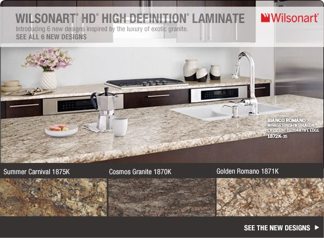 Wilsonart Hd High Definition Laminate Introducing 6 New Designs Inspired By The Luxury Of Exotic Granite Interior Design Ideas In 2018 Kitchen