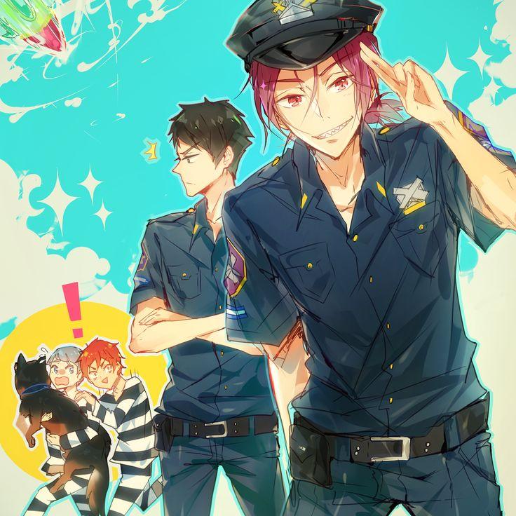 Stealing the police dog Free! Iwatobi Swim Club