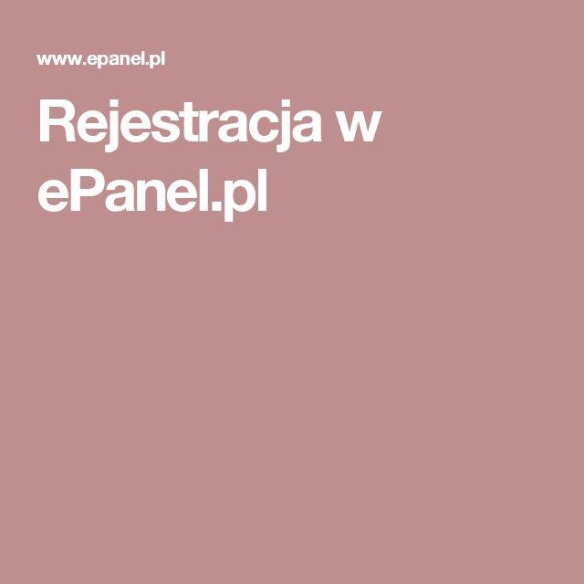 Rejestracja w ePanel.pl