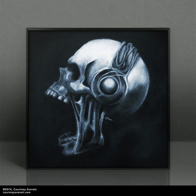 Drawing inspired by Metalheadz logo.    #drawing #charcoal #chalk #dark #skull #headphones #metalheadz #obscure #gothic #dnb #metalhead #deathmetal #metal #heavymetal #blackmetal #hardstyle #art #creative #surreal #arte #cráneo #schädel #czaszka #sztuka #kunst #drawing #sketch #darkart #horror #kopfhörer #halloween