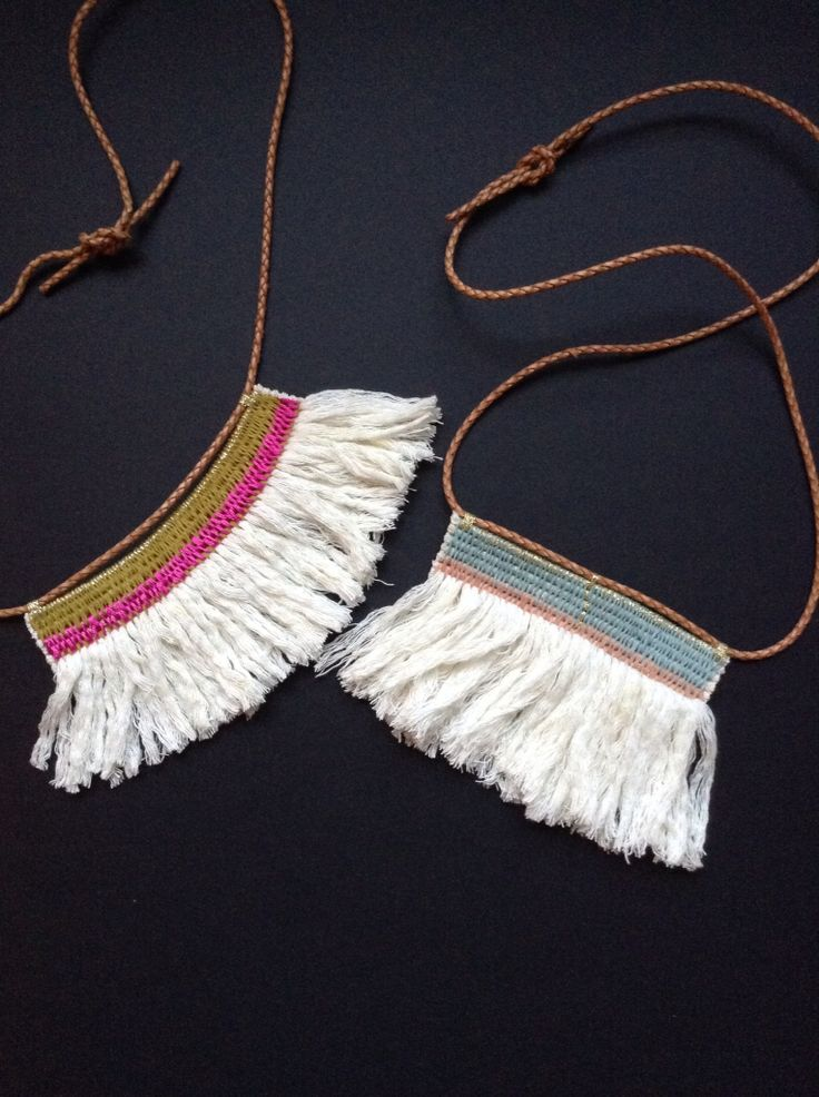 Tassel fringe, woven neck laces.  Ouch Flower