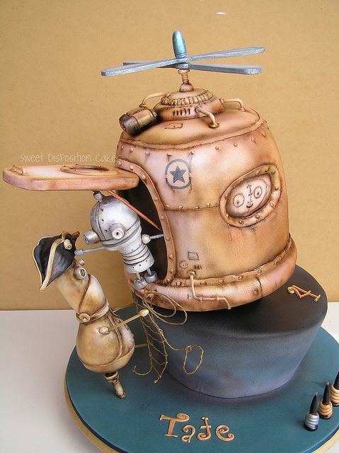 One of the best cakes I've ever seen! Steampunk cake by Sweet Disposition Cakes.