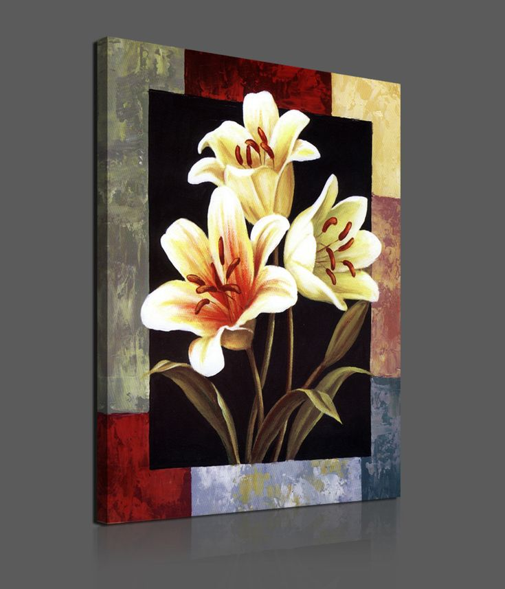 Flower Paintings On Canvas Pieces Modern Canvas Painting