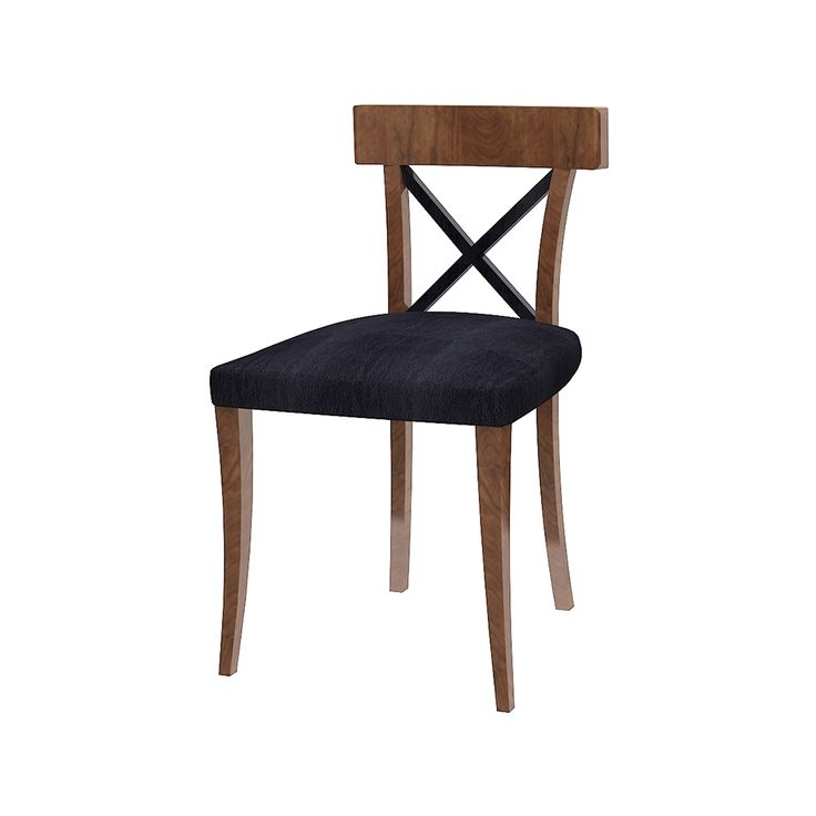 Whether as Side Chair, Accent Chair, or Desk Chair. this arm less version of our EDESSA Collection. EDESSA Side Chair will render a detail touch-up into any room. Contrasting color on its crisscrossed back rest highlights the look. Meanwhile, the curved and tapered legs lend ultimate sophistication.