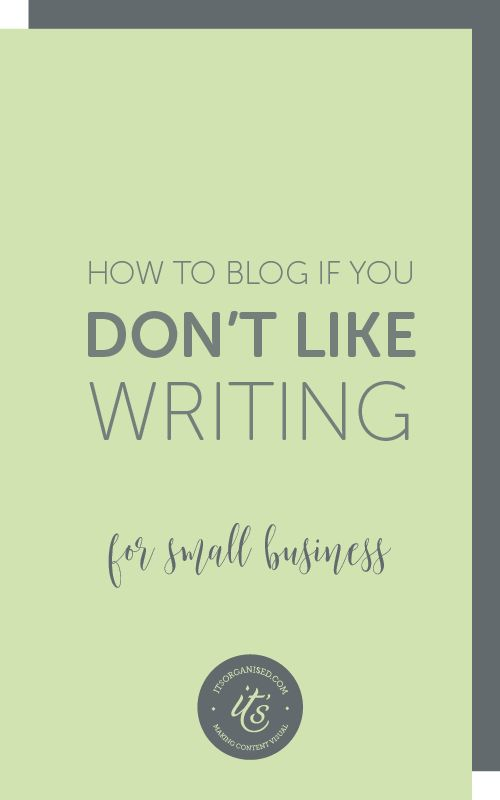 Think blogging is just about writing? Writing is just one of the many ways you can tell your small-business story. The online journals of yesteryear have evolved and branched off into multi-media business blogs. There's a content format out there for everyone, trust me. You just need to find yours. itsorganised.com | getting your small business online