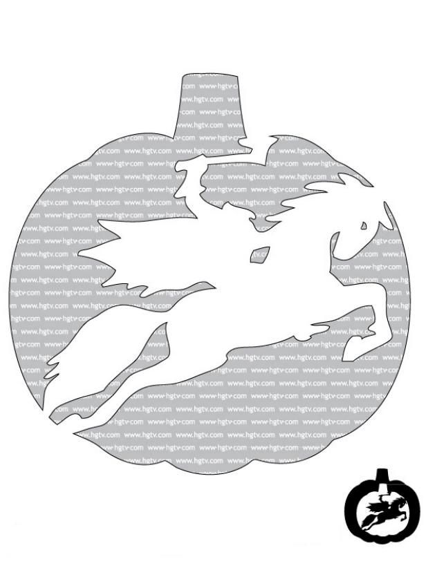 The Halloween pros at HGTV.com share 17 free, printable advanced-level pumpkin-carving templates.