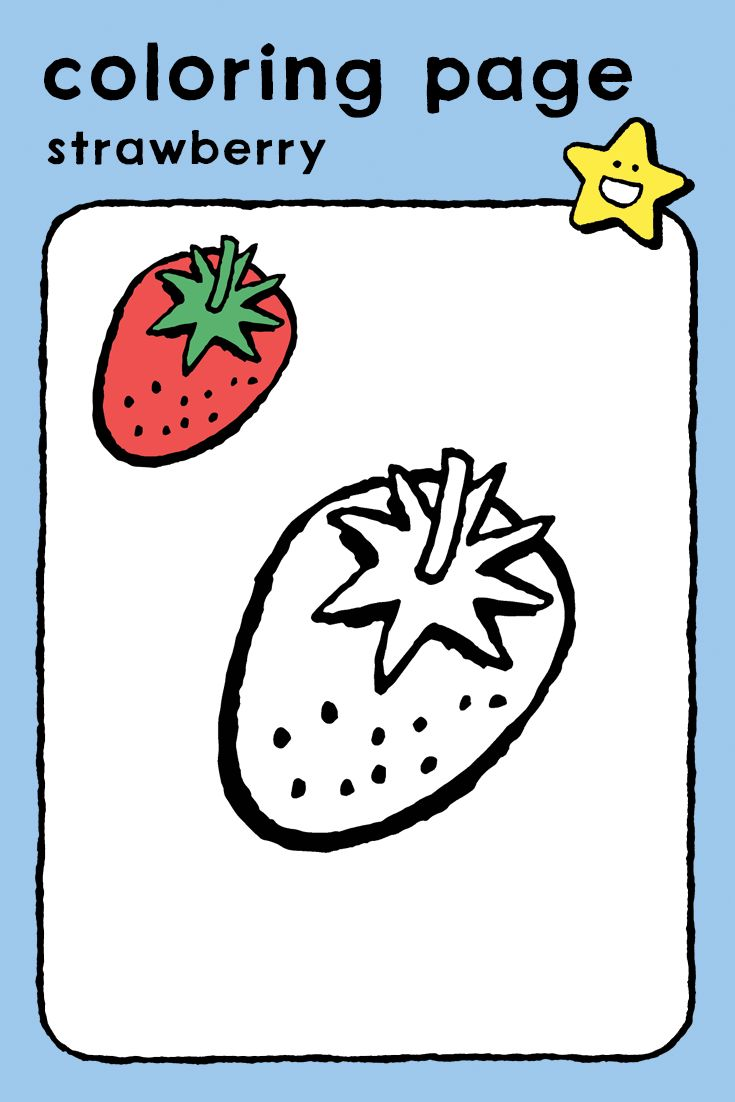 Strawberry Kiddicolour Coloring Pages Strawberry Color