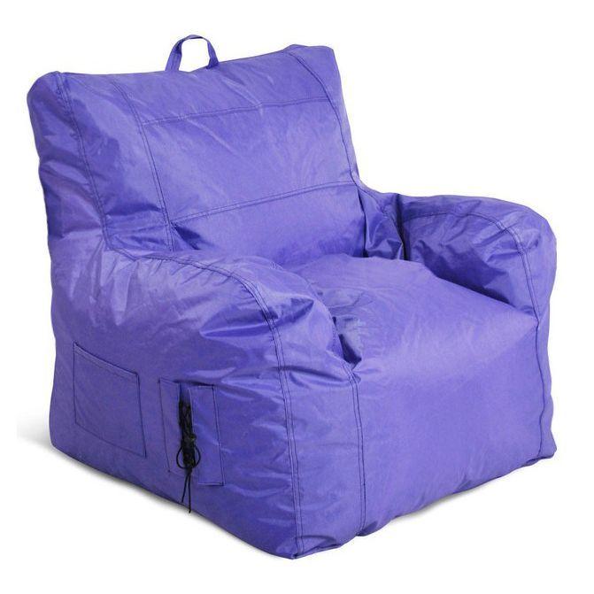 Jordan Manufacturing Large Bean Bag Chair (Purple), Size Medium (Polyester)