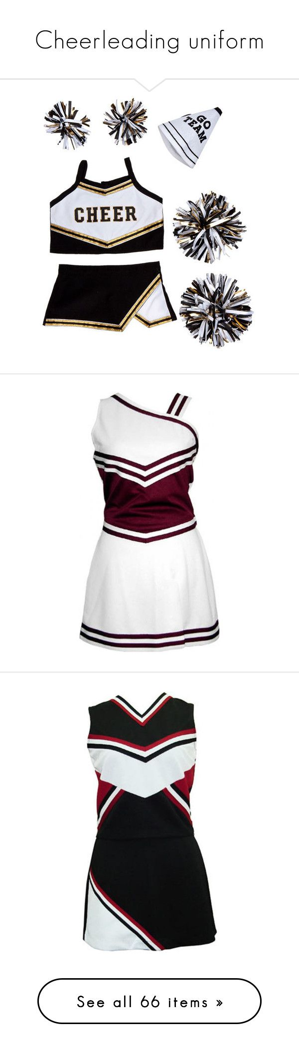 """Cheerleading uniform"" by jdbm6467 ❤ liked on Polyvore featuring cheerleader, cheerleading, dresses, cheer, sports, uniform, outfit, tops, cheer uniforms and cheerleading stuff"