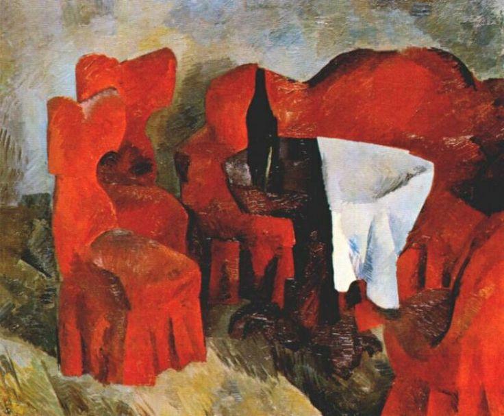 Красная мебель, 1920. Роберт Рафаилович Фальк