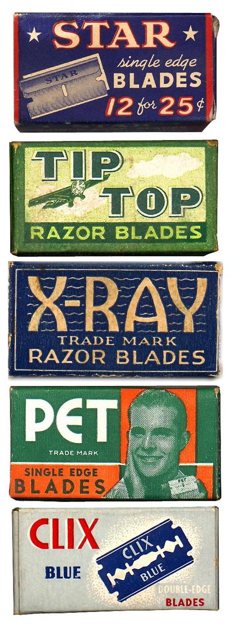 vintage razor blade packaging