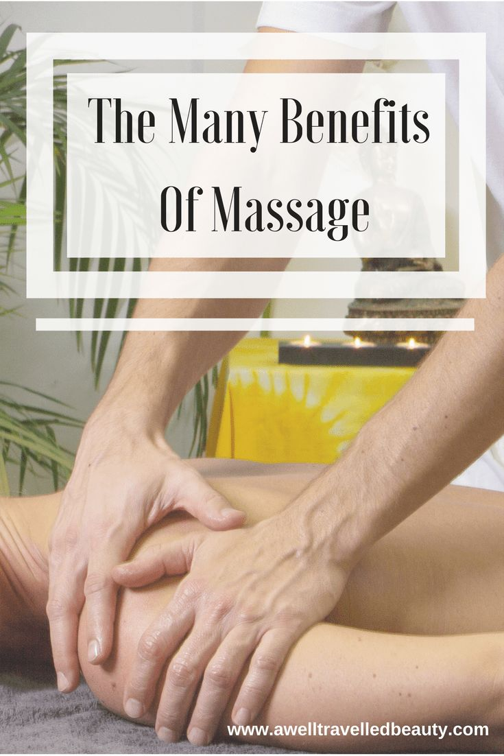 Massage doesn't feel good, it's good for you! The Benefits of Massage  Find out more! #massage, #spa, #spatreatments