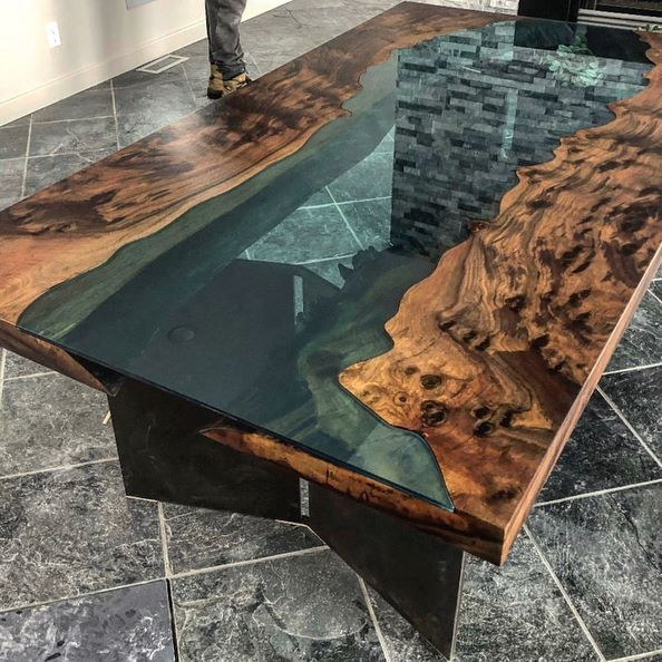 Glass River And Lake Tables Our Next Glass Table Will Be On