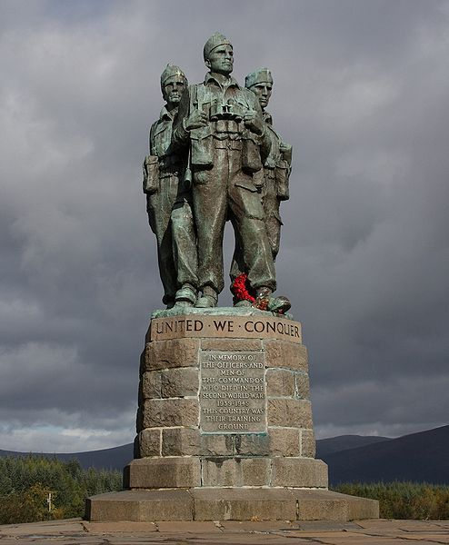 Commando Memorial at Spean Bridge in Scotland, dedicated to the World War II British Commandos that trained at Achnacarry Castle