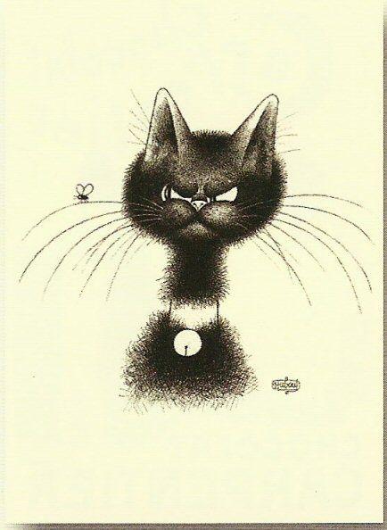 Humoristiques Illustrations, Chats Noir, Chats Dans, Chat Drôle, Dessins Chats, Animaux Insolites, Chats Peints, Cats Miaou I, Chats Litto