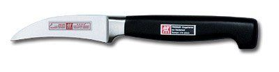 Zwilling J.A. Henckels Twin Four Star Peeling Knife 2.75-in. by Zwilling J.A. Henckels, Inc. Save 27 Off!. $39.95. Cleaning & Care: Cleaning & Care. Origin: Germany. Handle: Slip-resistant plastic. Material: High-Carbon Stainless Steel. Warranty: Lifetime. J.A. Henckels has been manufacturing fine cutlery since 1731. Made in Solingen, Germany, its knives are forged, not stamped. Blade density is improved using the FRIODUR ice-hardening process, which provides a sharper initia...