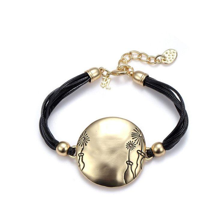Dandelions Bold Gold Statement Bracelet