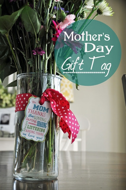 Last minute Mother's Day gift idea.  Free gift tag printable.