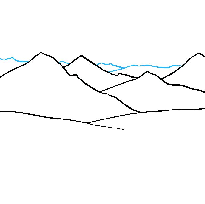 mountains drawing draw easy mountain tutorial step drawings beginners really easydrawingguides