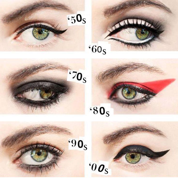 Her dönemin eyeliner trendi farklı. Peki senin favorin hangisi?