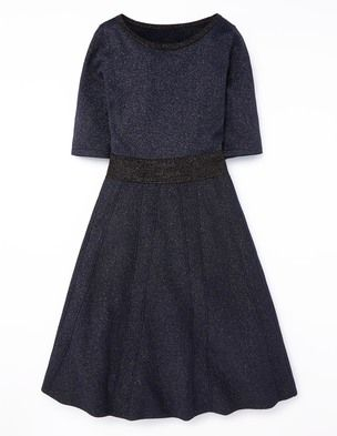 Milano Dress WH687 Day Dresses at Boden.  I'm in love with this gorgeous fit and flare navy dress from Boden!