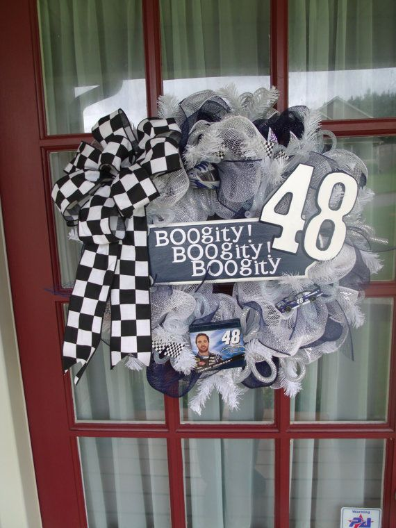 17 Best Images About Nascar Wreaths On Pinterest Merry