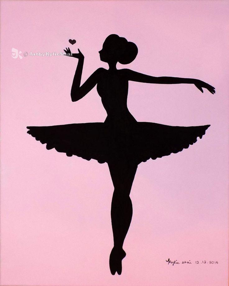 Printable (Ballerina Silhouette Pink) by ArtbyKylieShai on Etsy