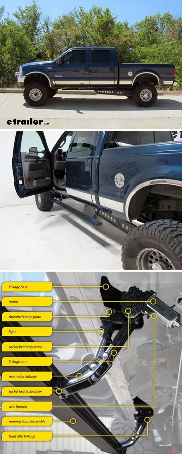 Bestop powerboard motorized running boards with led lights for your ford f 250 and f