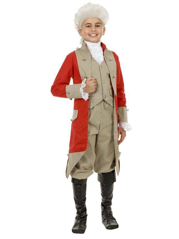 Halloween Childs British Red Coat Costume