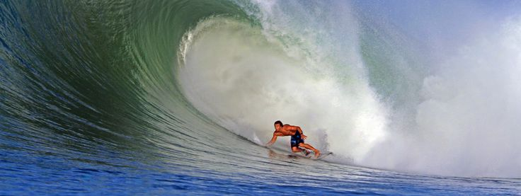 The famous wave in Sorake on a good day. Lagundri Bay, Nias Island, Indonesia. Photo by Justin Bu'ulolo.